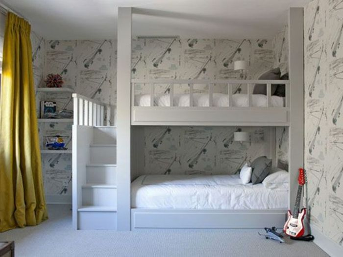 ikea lit mezzanine pas cher pour la chambre d 39 enfants. Black Bedroom Furniture Sets. Home Design Ideas