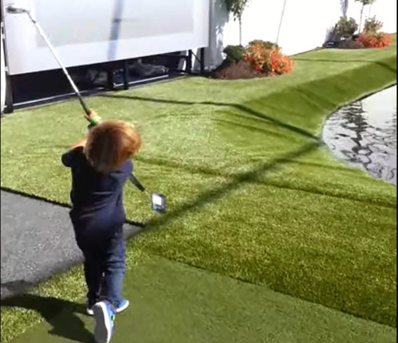 Tiger's Son Charlie Woods Has One Sweet Swing, Finishes T-2 at U.S. Kids