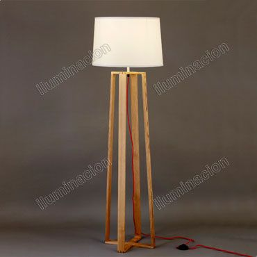 como hacer una lampara de pie de madera - Buscar con Google ...