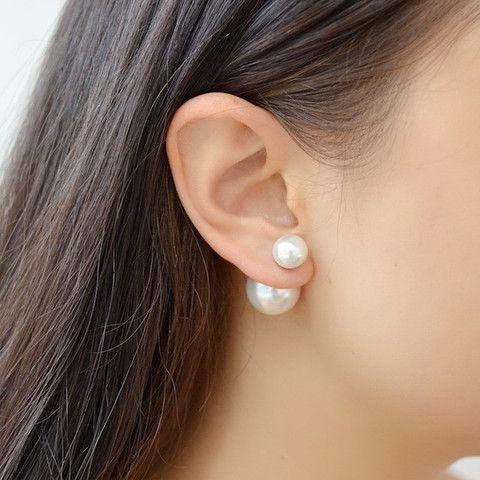 93f483c50 DIY Double Sided Pearl Earring | Jewerly | Double pearl earrings ...