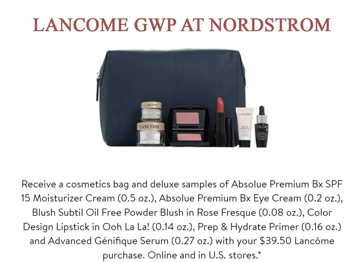 20+ Lancome Free Gift With Purchase August 2020 Gif