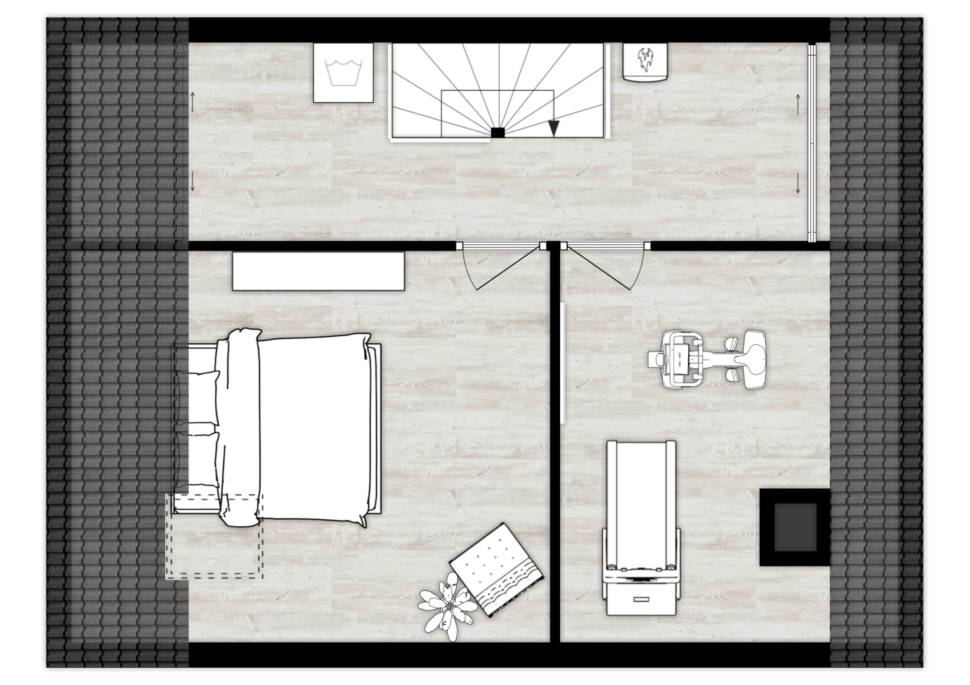 Black White 2d Floor Plan Made With Floorplanner Com Floor Plans Create Floor Plan How To Plan