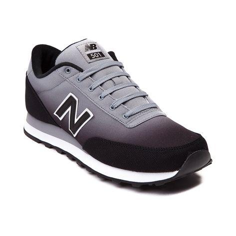 black and gray new balance 501