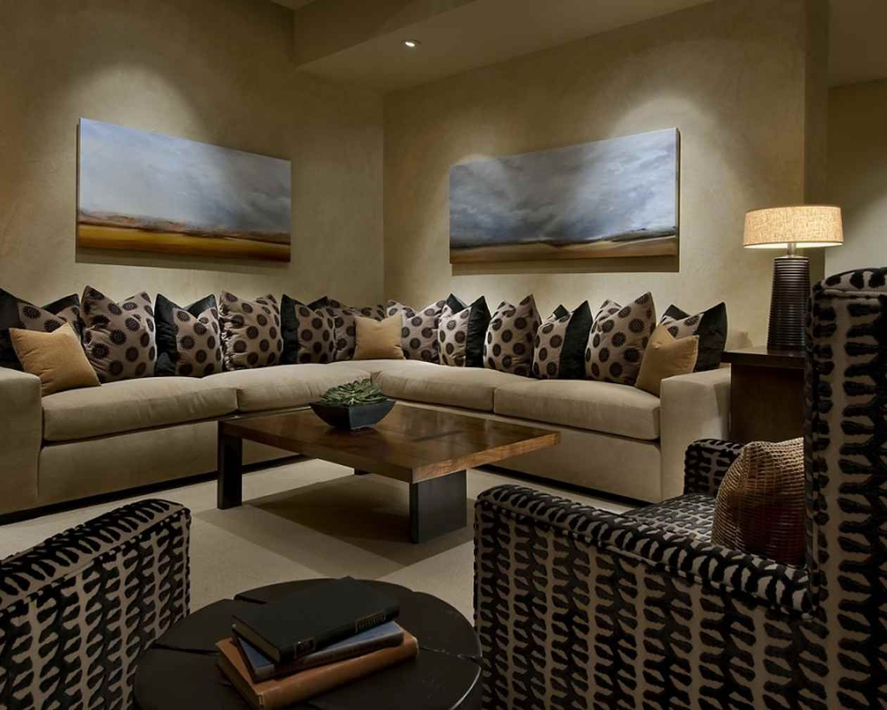 The home interior designs pictured here include the for Interior design living room description