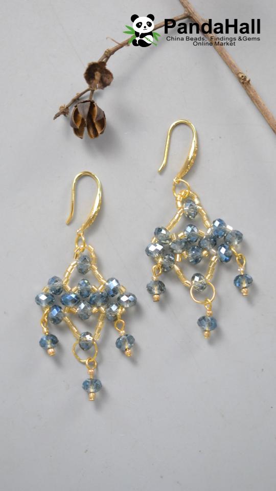 Silver earrings dangling gift idea silver glass beads Designer Stud Earrings