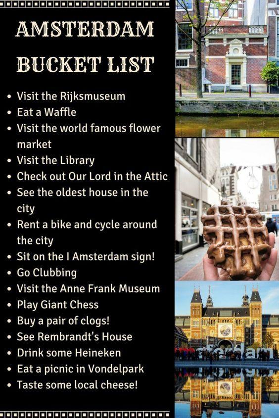 amsterdam bucket list