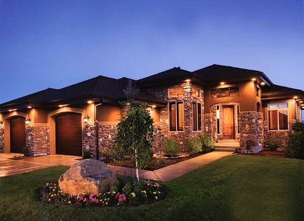 Wired In Gutter Or Soffit Lighting On House Exterior Instead Of Solar Wired Ground Lights House Lighting Outdoor House Exterior Outdoor Lighting Landscape