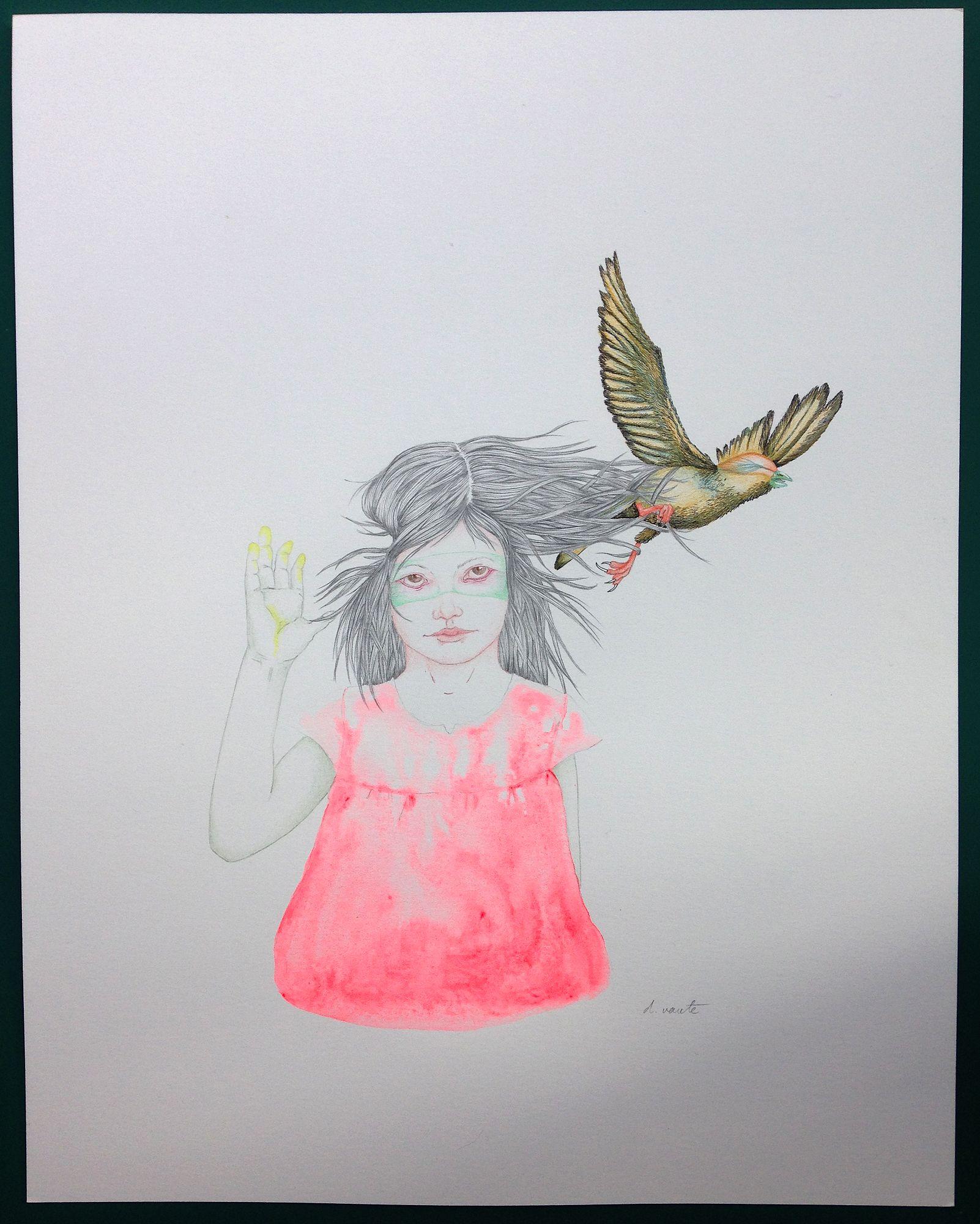 """Delphine VAUTE """"Myriam"""" 2015 galerie 3e parallèle, Paris Salon Ddessin {15}"""