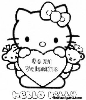 Printable Valentines Day Hello Kitty Be My Valentine Printable Coloring Pages For Hello Kitty Colouring Pages Hello Kitty Coloring Valentine Coloring Sheets