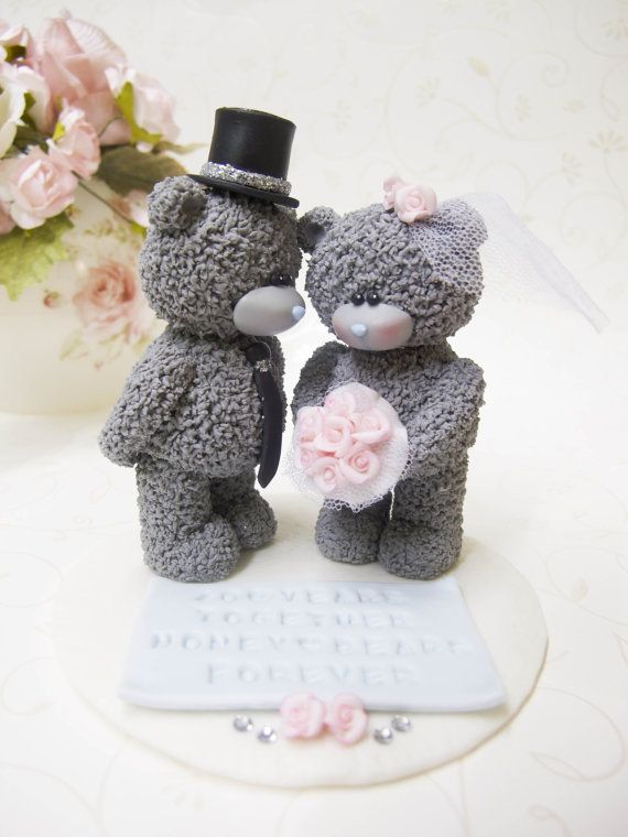 Me To You Bears Custom Wedding Cake Topper With By Claydoughandme 10890