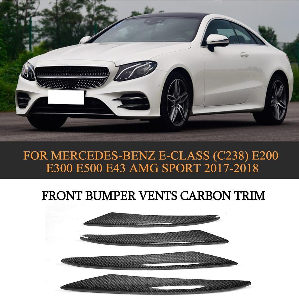 E Class Front Bumper Vents Carbon Trim For Mercedes Ben Z E Class