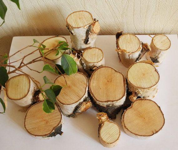 Silver Birch Wood Slice Birch Slices Candlestick Natural Etsy In 2020 Birch Wood Decor Silver Birch Birch Wood