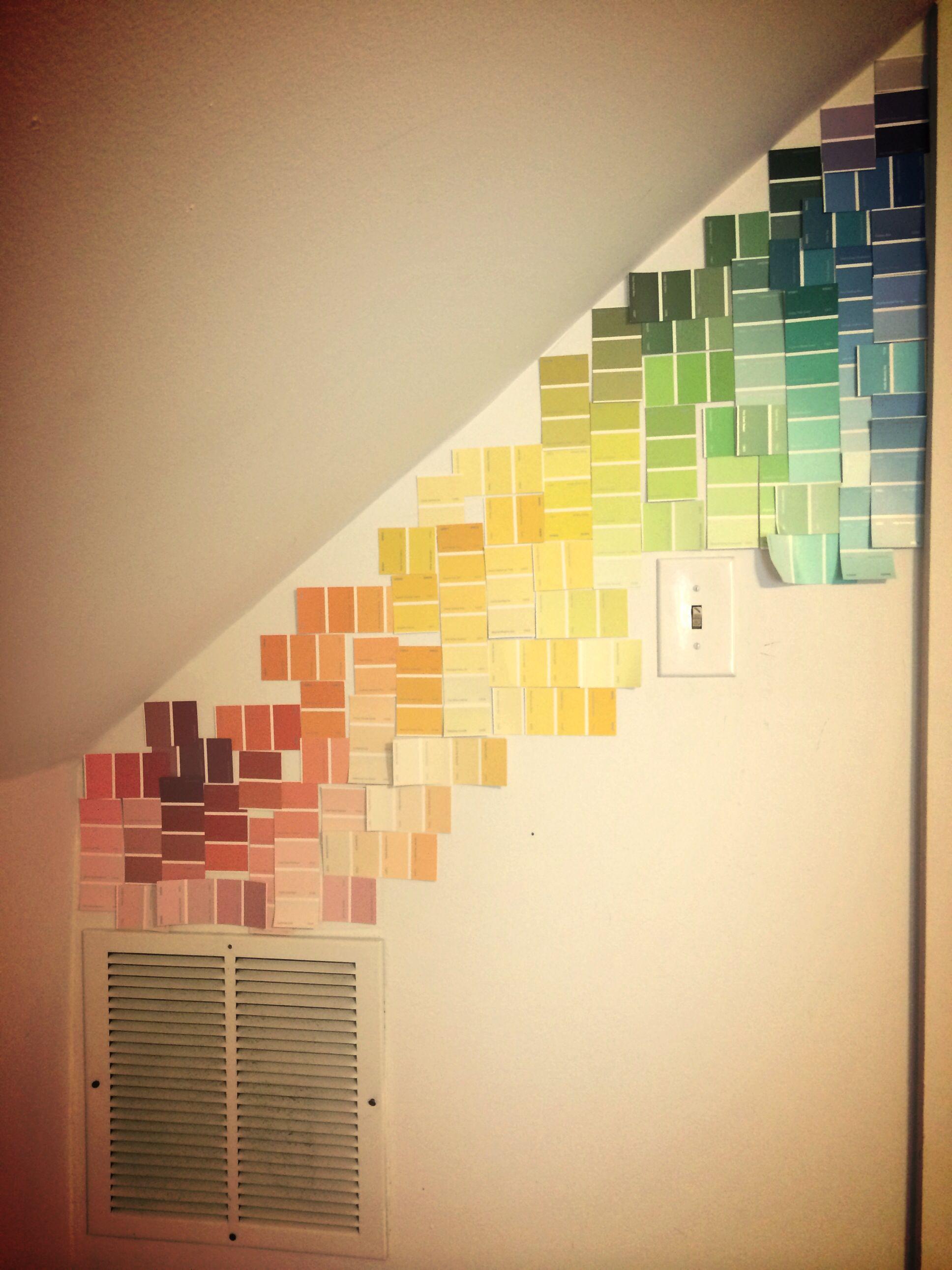 Paint sample wall decor   Mine :)   Pinterest