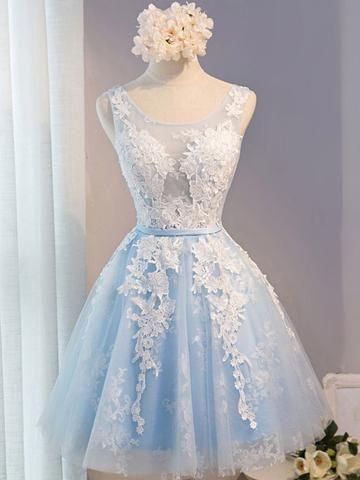 b52108463e Black Cherry Blossom Off Shoulder Hi-Low Formal Evening Dress | Cute |  Vestidos azul bebé, Vestidos azules, Vestidos para graduacion cortos