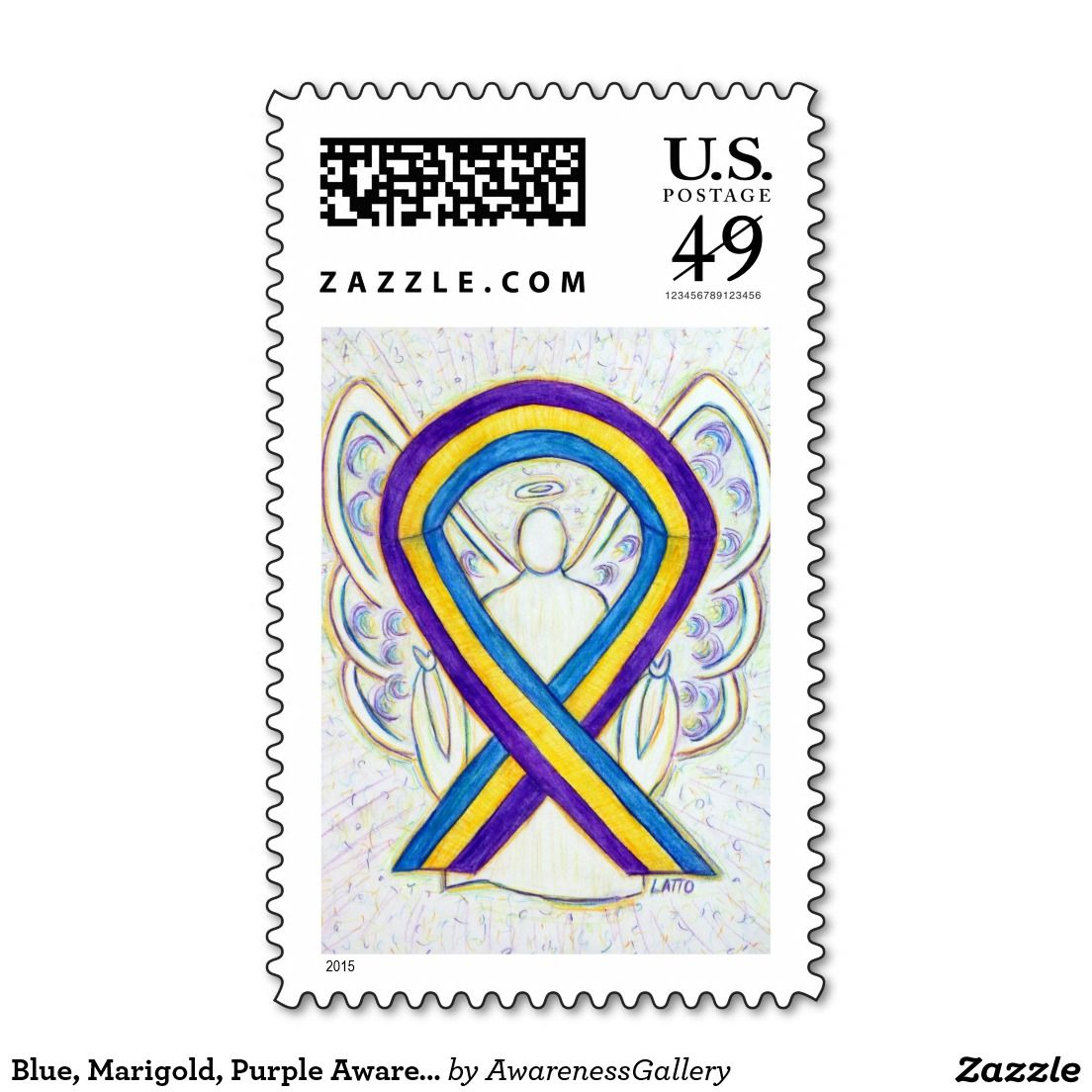 Bladder cancer awareness blue marigold purple guardian angel bladder cancer awareness blue marigold purple guardian angel holiday art postage stamps biocorpaavc