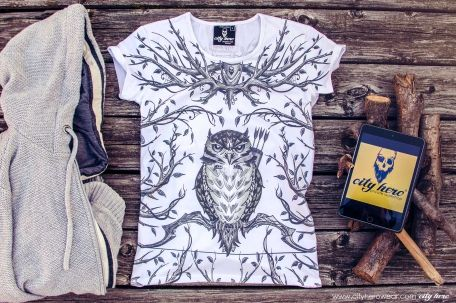 """FOREST HUNTER"" #cityhero #tee #teeshirt #tshirt #owl #print #forest #hunt #style #casual #original"