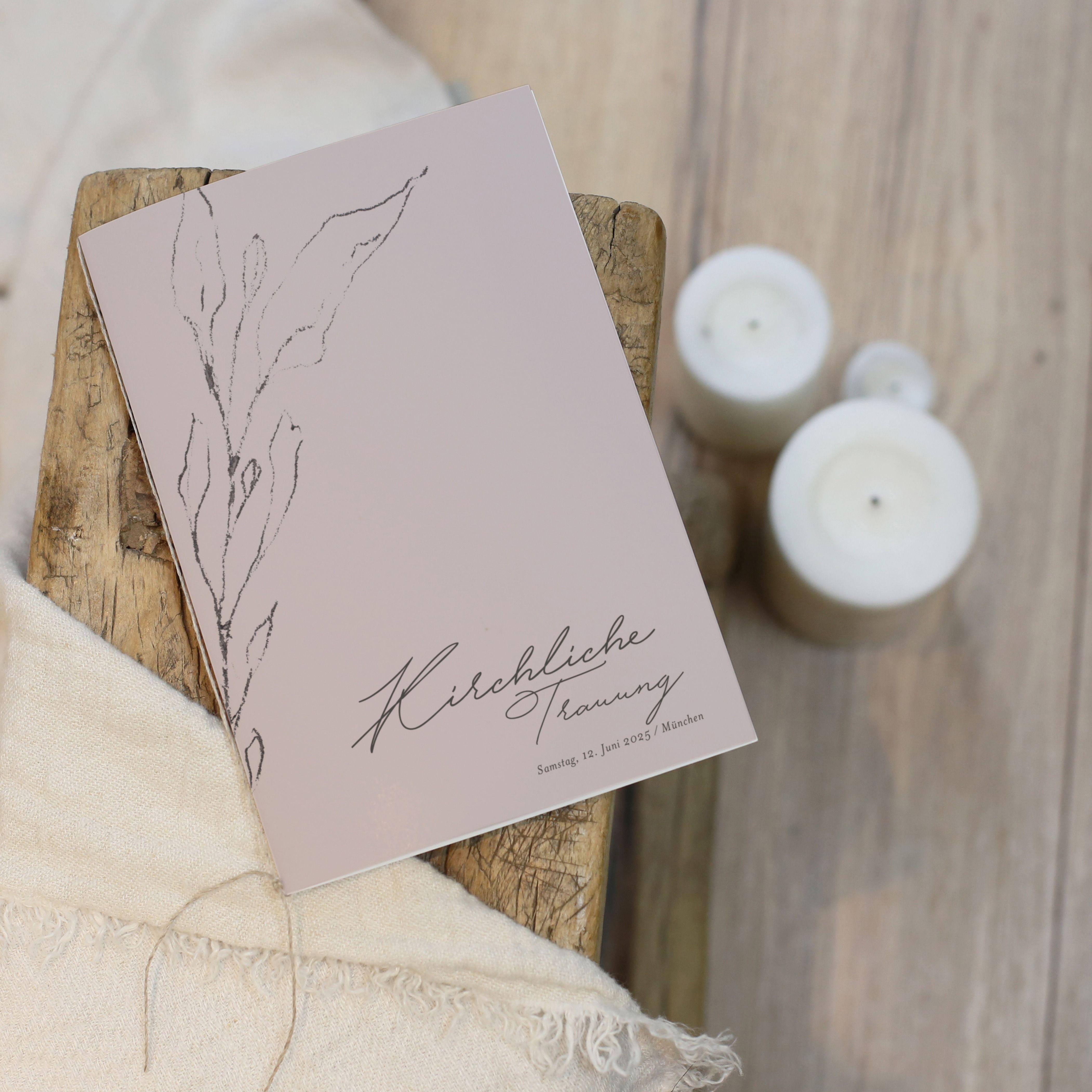 Kirchenheft Zur Hochzeit Leinenblumen Karte Hochzeit Hochzeitsschilder Kirchenheft