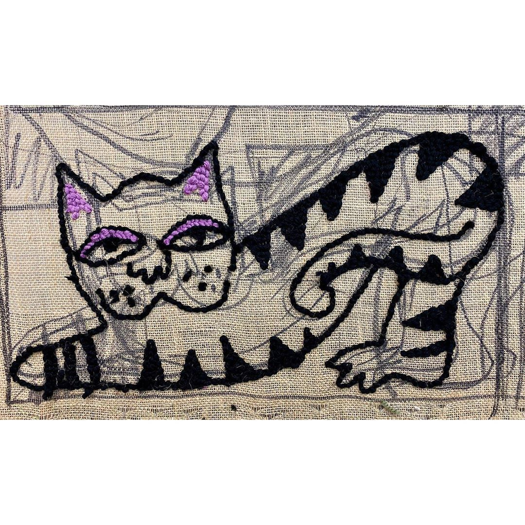Work in progress 😺 - - #tuftinggun #rugpunching #rughooking #artist #textiledesign #bespokerugs #portrait #kitschart #wip #workinprogress #wool #textiles #textileart #fibreart #tuftingmachine #yarn #contemporaryart #contemporarytextiles #fibreartist #textilesartist #artiststudios #craft #rugmaking #textiledesign #tufttheworld #rugs #fibreshare #fibreartist #tufting #rugpunchingart