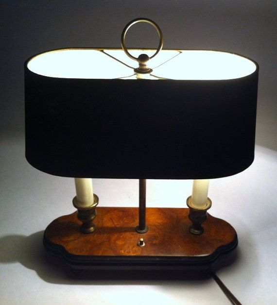 A Graphic Light Box And A Mid Century Dresser Turning The: Vintage Knob Creek Table Lamp / Desk Lamp / Lamp / Office