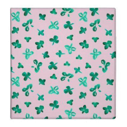 #pink - #Clover Leaves 1.5'' Binder