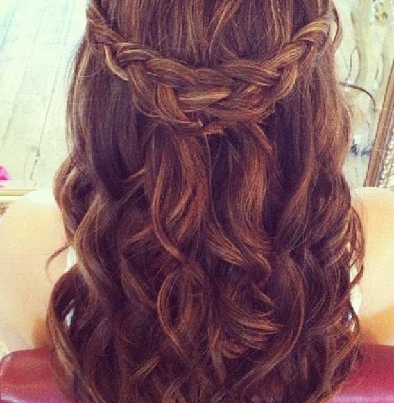 prom hair styles for hair curly waterfall braid hair styles hair 2532
