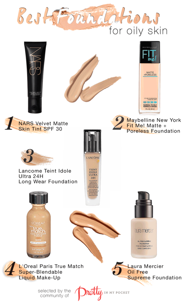 Best Foundations for Oily Skin Pretty in my Pocket