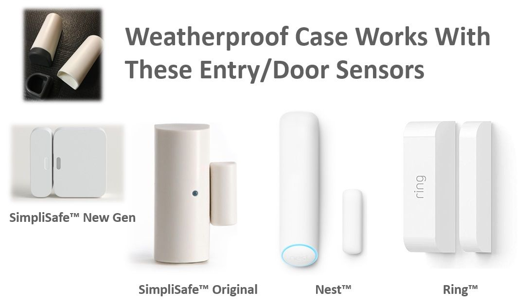 Pack Of 3 Weatherproof Cases Works With Nest Entry Sensors Simplisafe Home Security Systems Weatherproofing