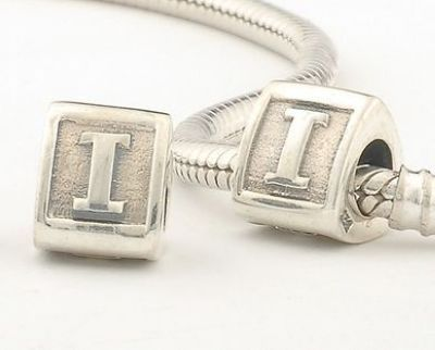 CLLE02-I 925 Sterling Silver Triangle Alphabet letter I Pandora Charms beads Pandora Letters