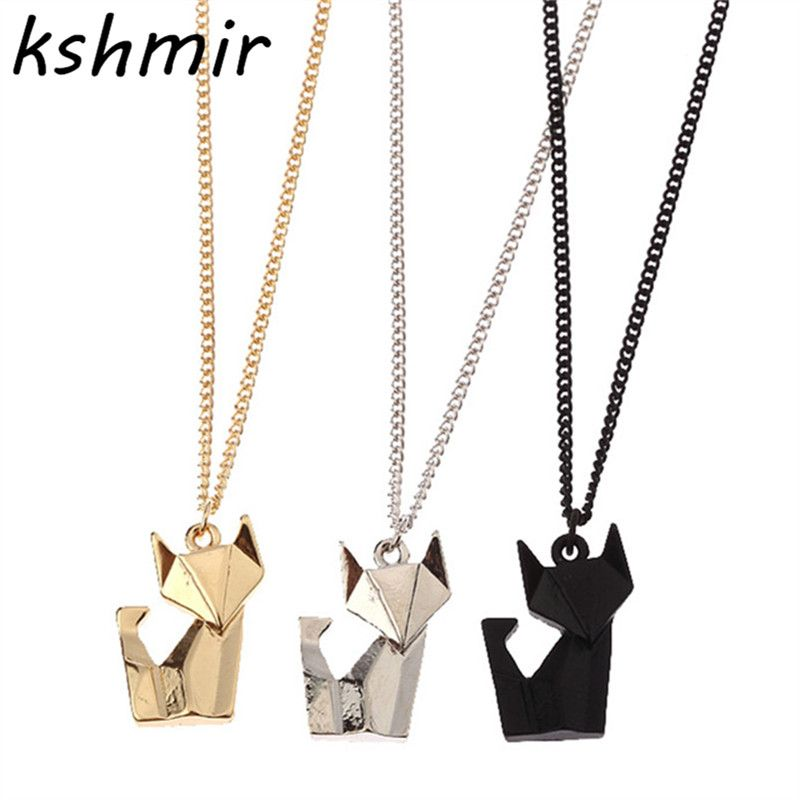 Fashion accessories delicate joker stereo origami animal short joker stereo origami animal short necklace mrs black chain necklace mozeypictures Image collections