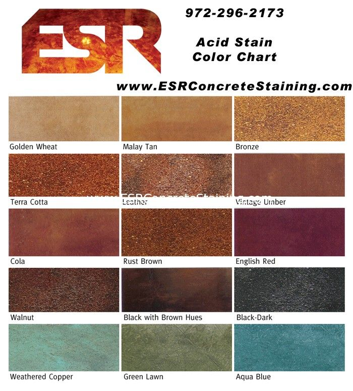 Acid stain concrete colors google search launch longmont