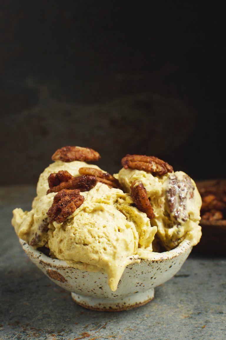 Low Carb Candied Pecan Pumpkin Ice Cream Recipe Keto Desserts