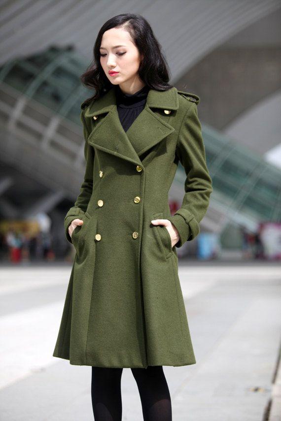 Green Military Coat