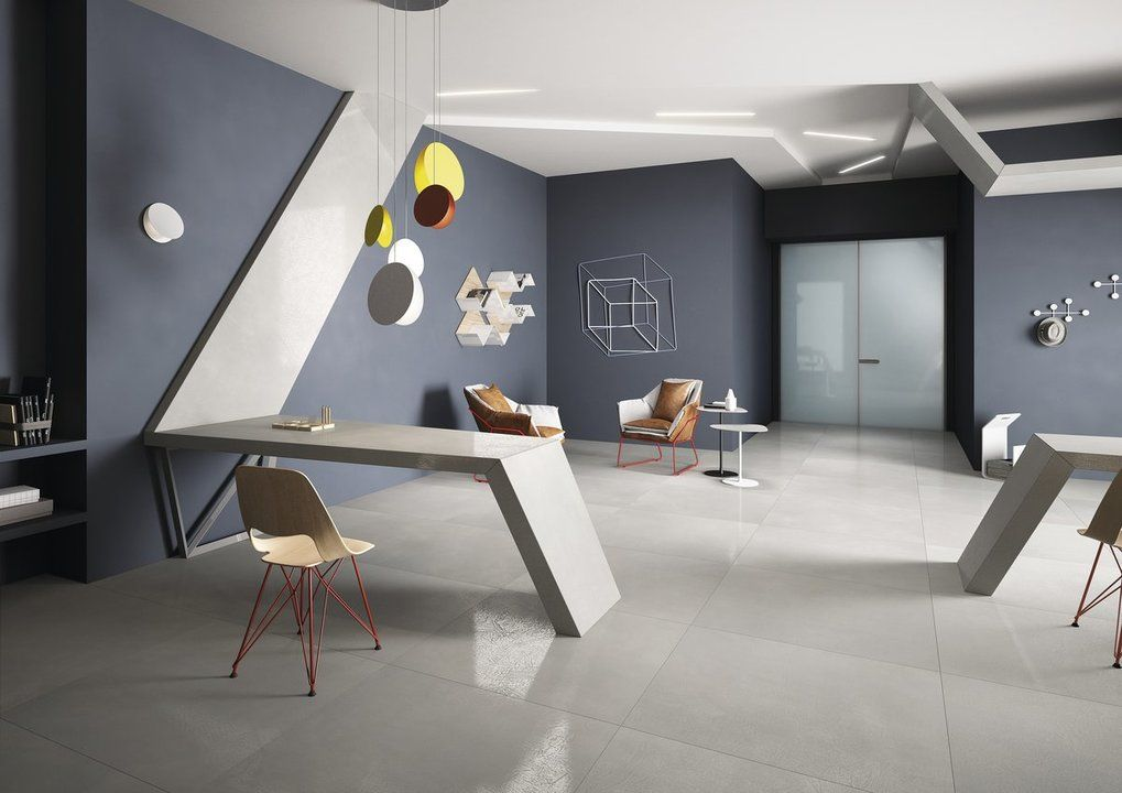 combined office interiors. Brilliant Combined The High Performance Of Hightech Porcelain Stoneware Is Combined With The  Very Particular Look Resin To Create HQRESIN Newu2026 Throughout Combined Office Interiors