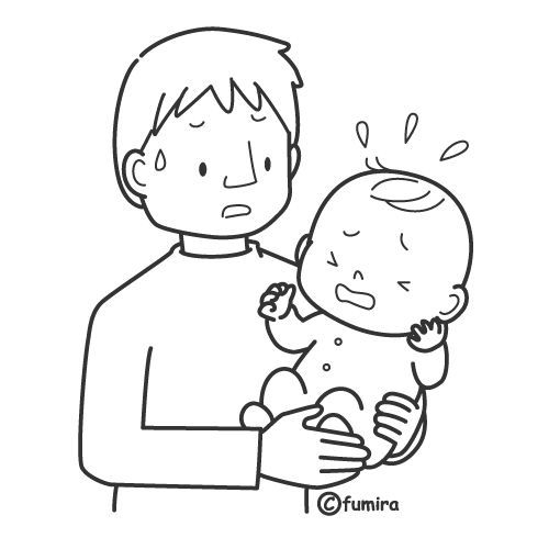 Baby Crying Free Coloring Pages