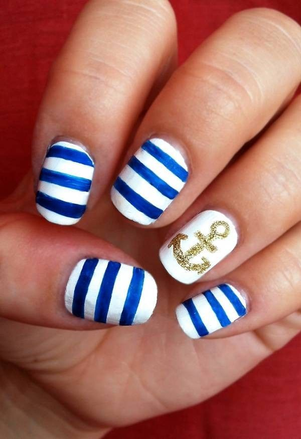 awesome 15 Trendy Nail Art Designs for Beginners 2016 - SheIdeas - Awesome 15 Trendy Nail Art Designs For Beginners 2016 - SheIdeas