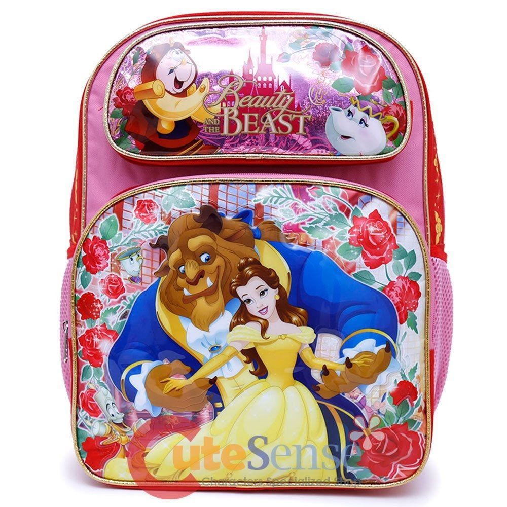 BEAUTY AND THE BEAST New Kids Adjustable Strap Backpack