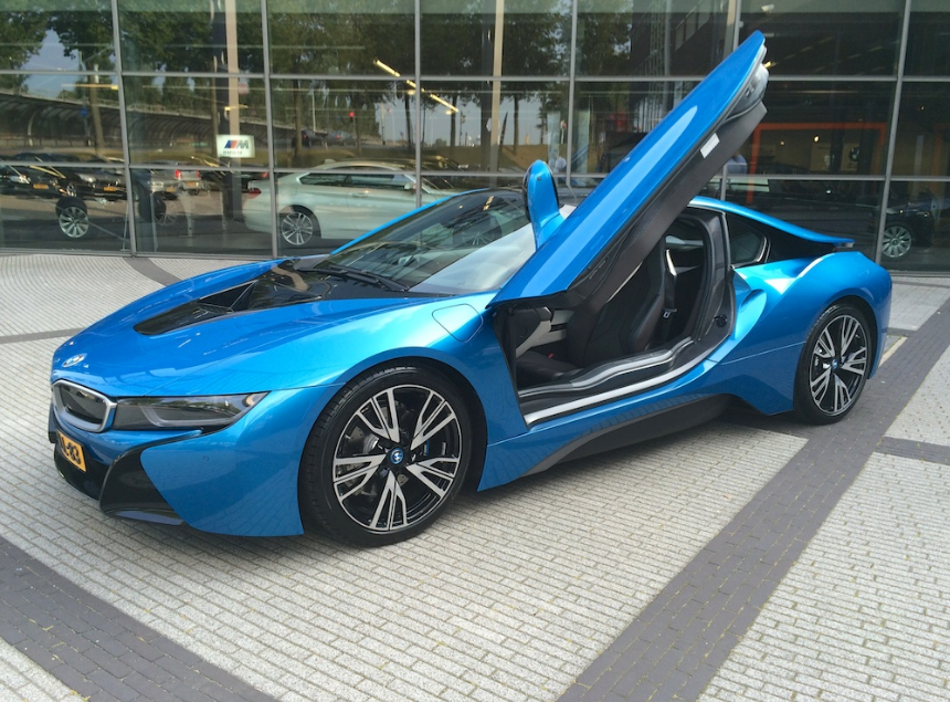 2016 Bmw I8 Blue 1