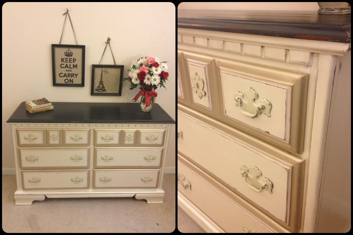 Best Dresser Painted In Modern Masters Oyster And Champagne 400 x 300