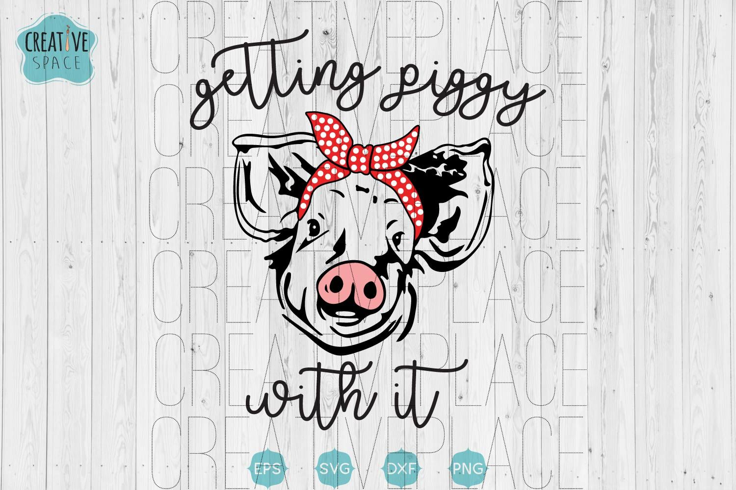 Download Gettin Piggy With it svg, Pig With Bandana svg, Pig svg ...