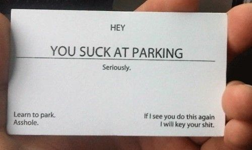 I know someone who could use this for the turds who always block her driveway!