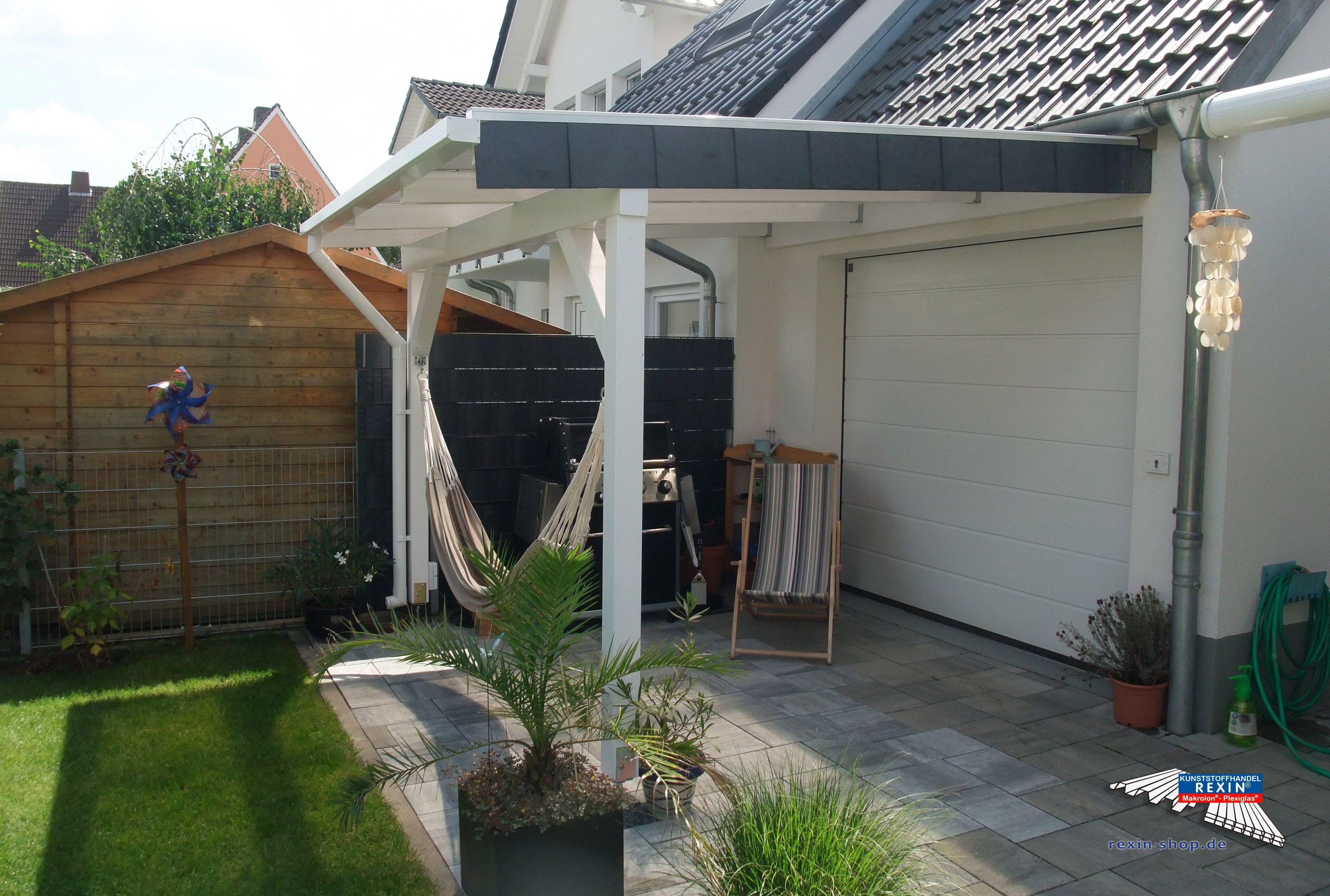 Ein Weisses Holz Terrassendach Der Marke Rexocomplete 3m X 6m Mit Pc