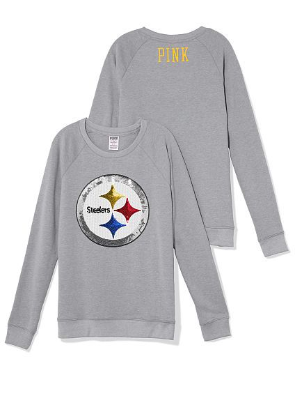 PINK - Pittsburgh Steelers Bling Crew  994115406
