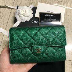 6b52b10f3ee8 Image result for chanel emerald green passport holder | BD Presents ...