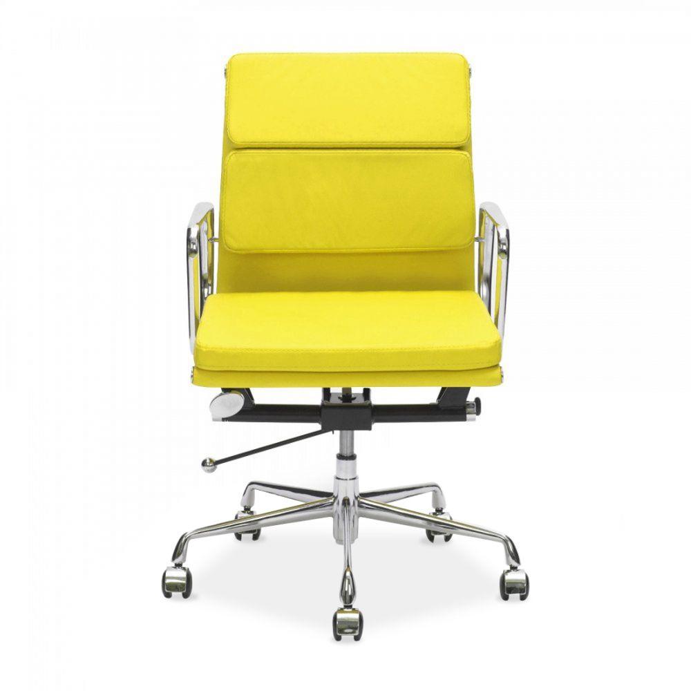 Charles Eames Style Yellow Short Back Soft Pad Executive
