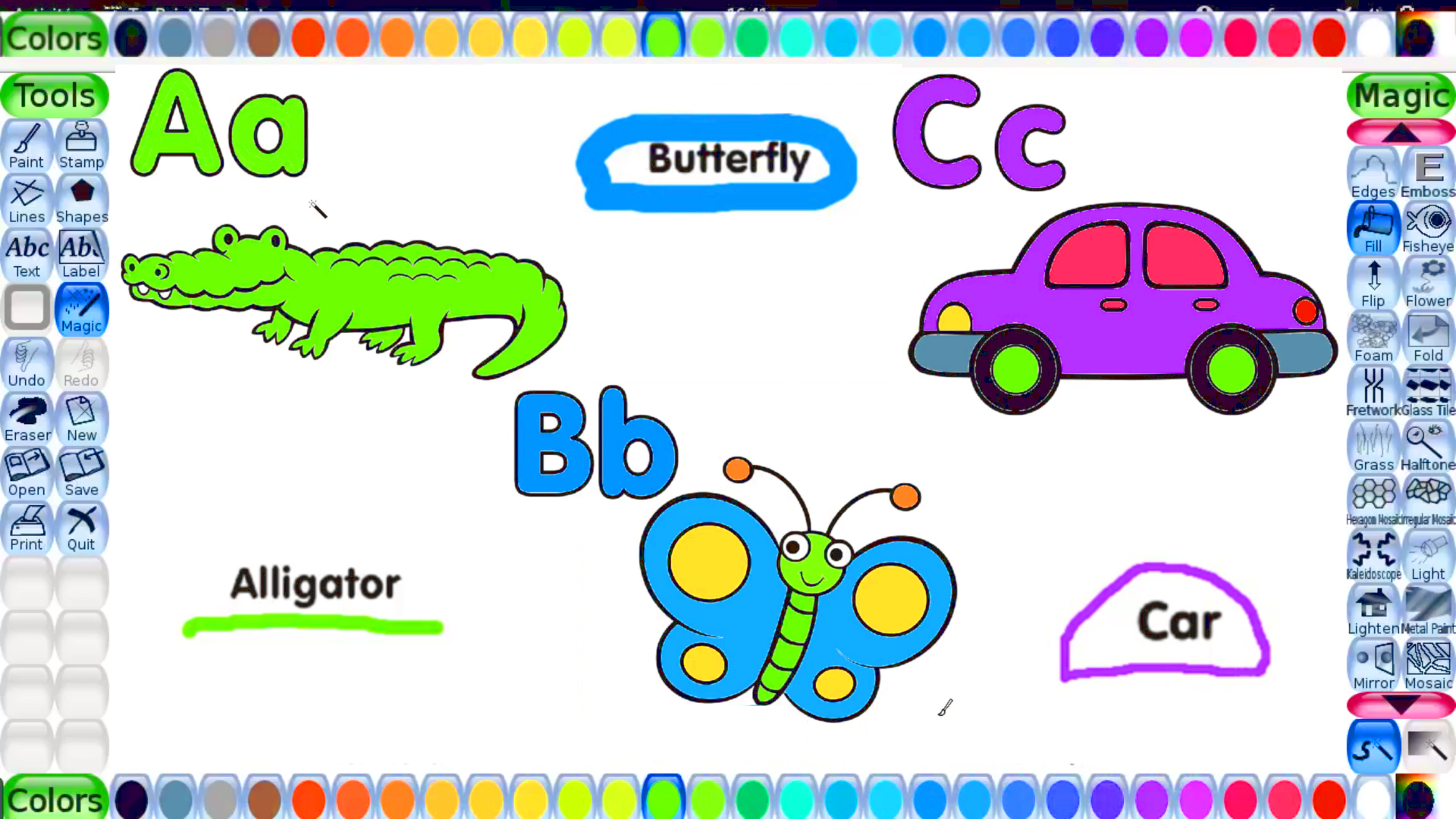Abc Color For Toddlers From A To Z With All The 26 English