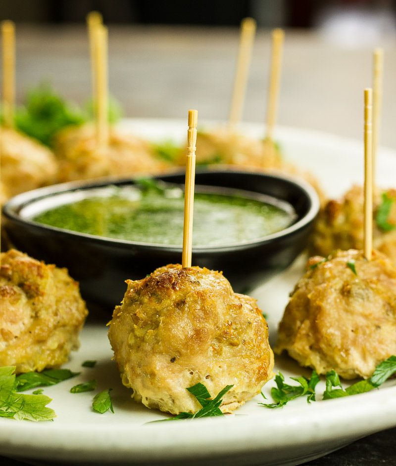 Chimichurri Chicken Bites Appys Dips And Finger Foods Chicken