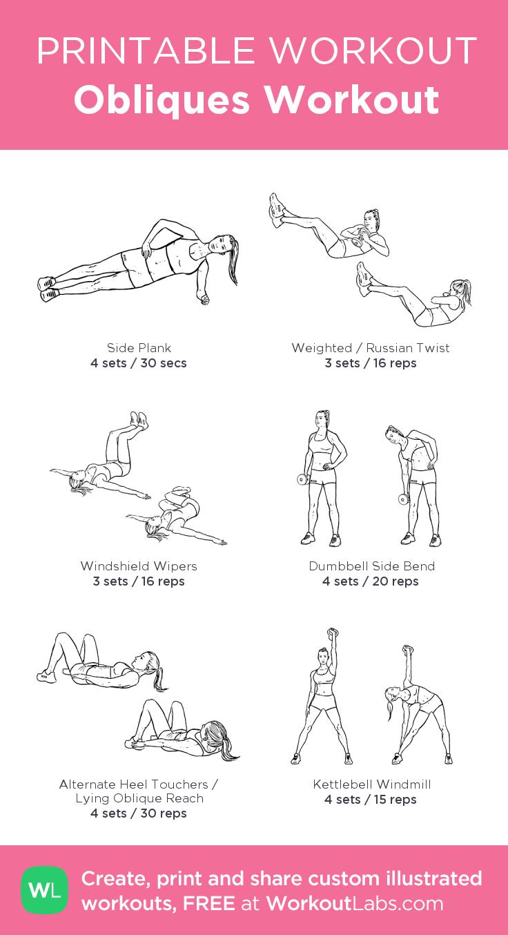 Obliques Exercises Obliques Workout: my v...