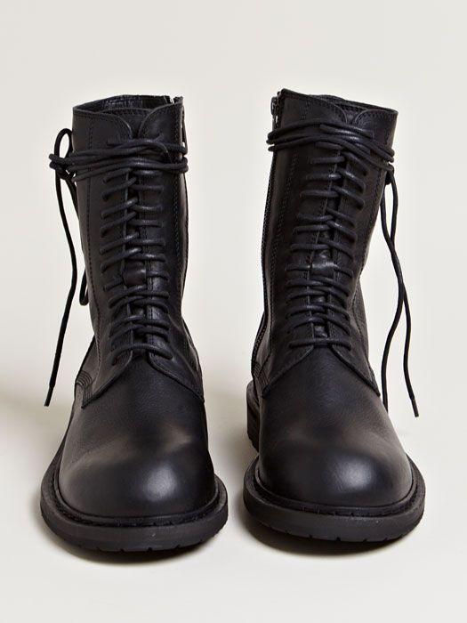 48c6dedfd4fce ann demeulemeester | women's vitello olio lace up boots | something ...