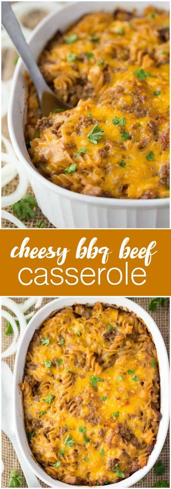 Cheesy Bbq Beef Casserole Recipe Resep Makanan Makanan Resep Daging Sapi