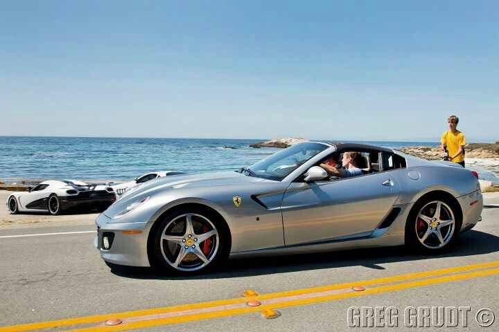 599 SA Aperta (1 of 80 produced) also like the cars in the background